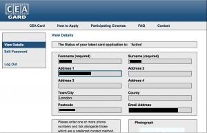 CEA Card Application Form