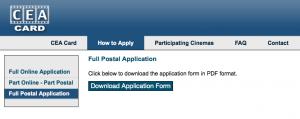 Download CEA Application Form online for postal application